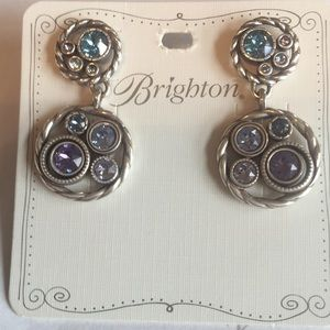 Brighton new blue and silver earrings